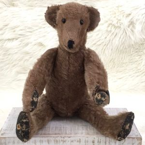 Antique Mohair Well Loved Brown Bear